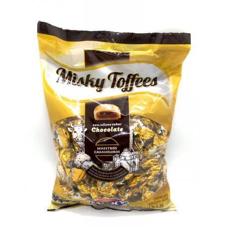 Caramelos Misky Toffees Chocolate x 648 gr
