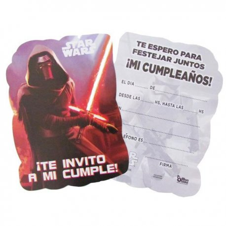 Invitaciones Star Wars x10
